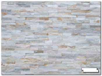 1/2sqm Pack (14 Tiles) Split Face Oyster Slate Tiles